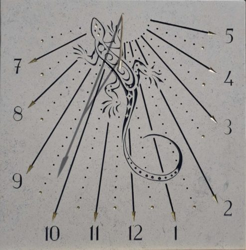Cadran solaire lézard
