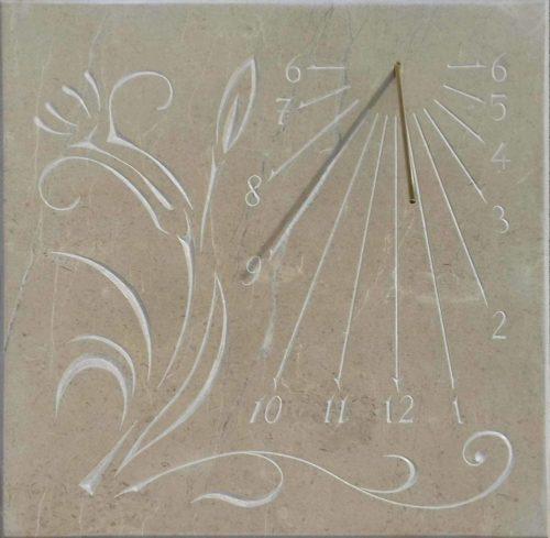 Cadran Solaire Mural fleur