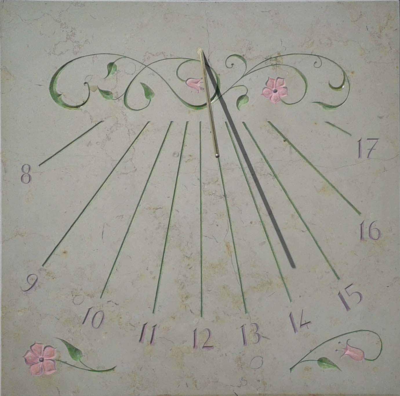 Cadran solaire florale