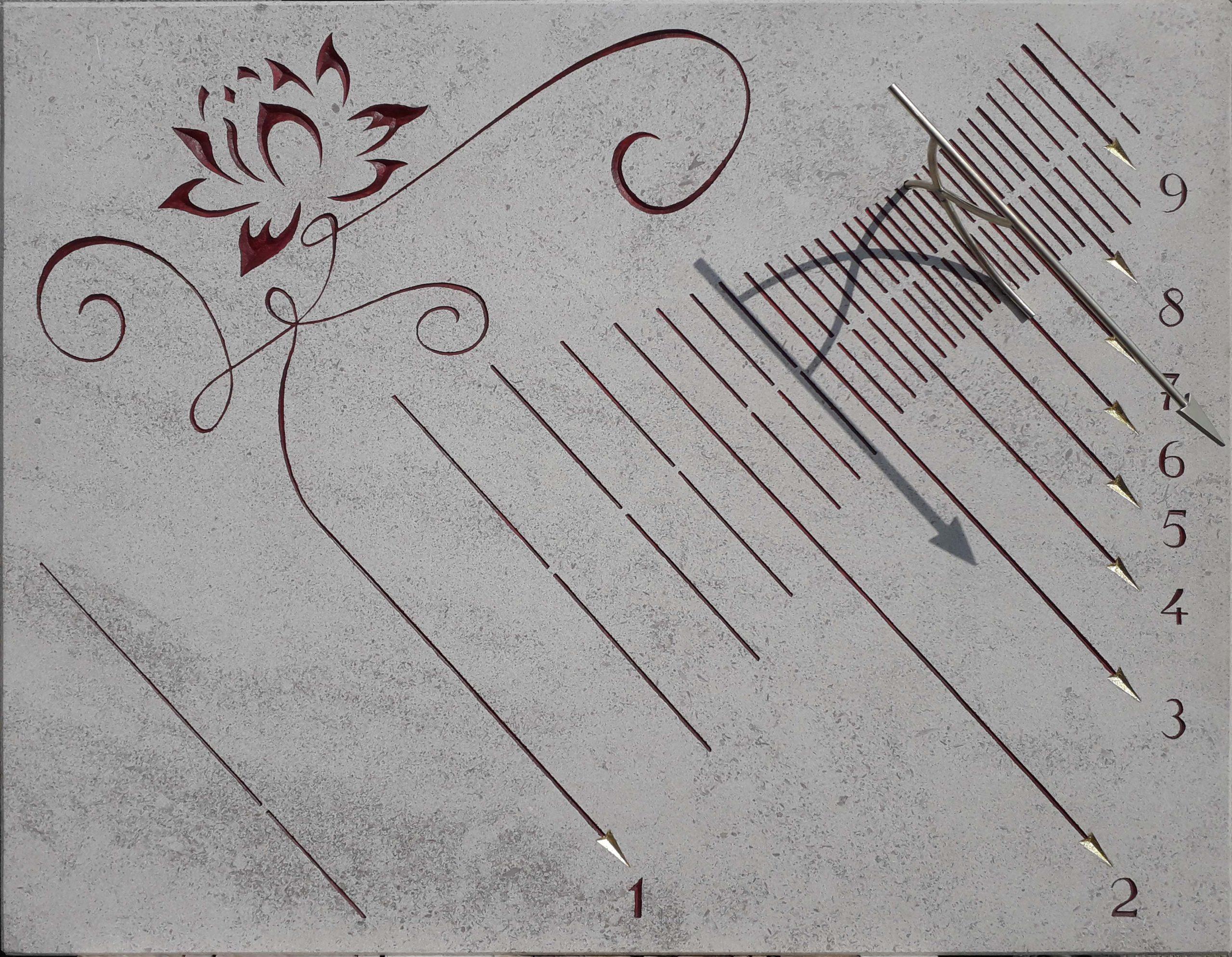 Cadran solaire nénuphar