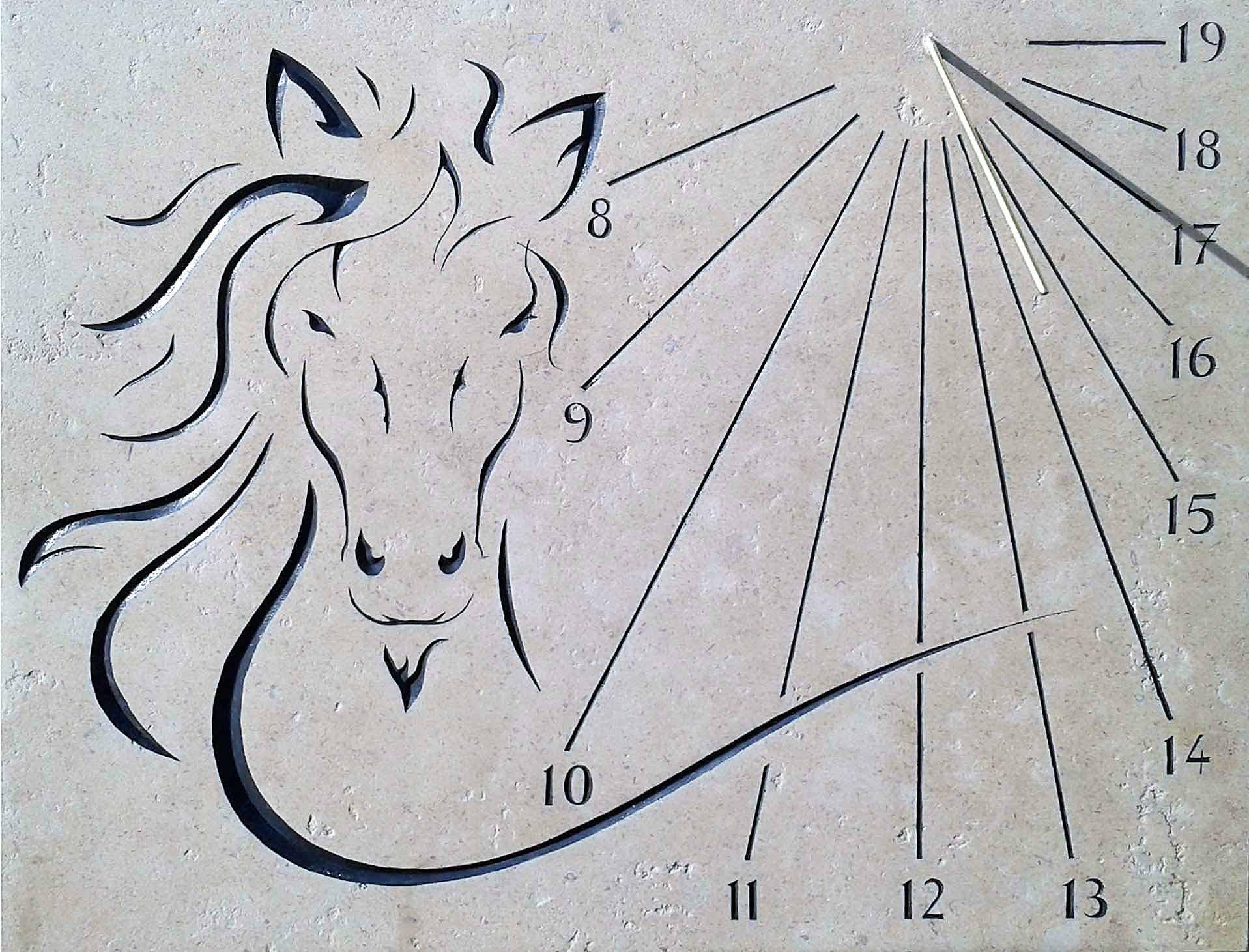 Cadran solaire tête de cheval