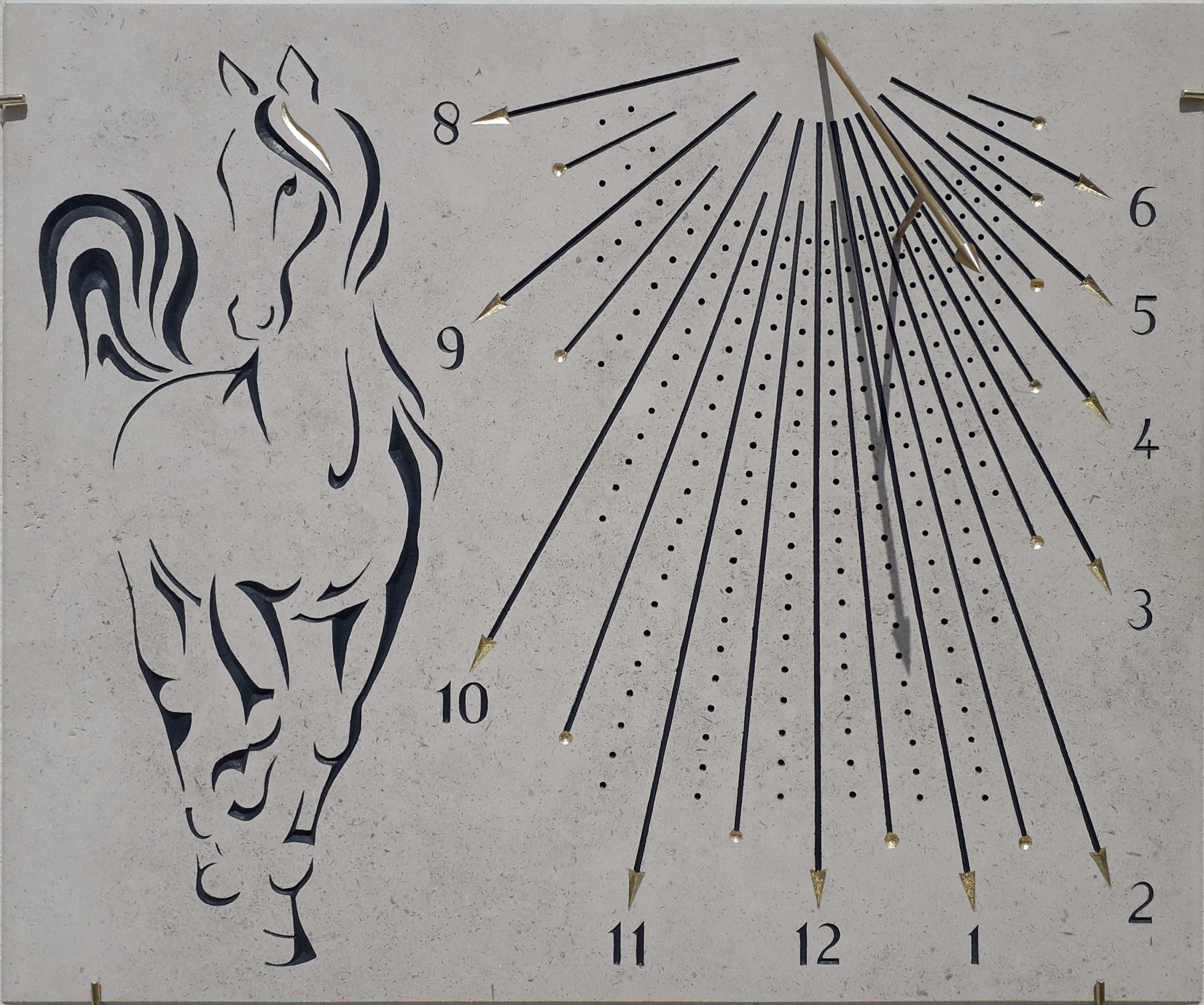 Cadran solaire cheval