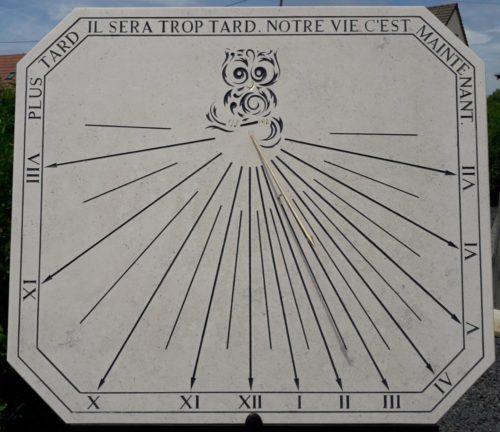 Cadran solaire chouette