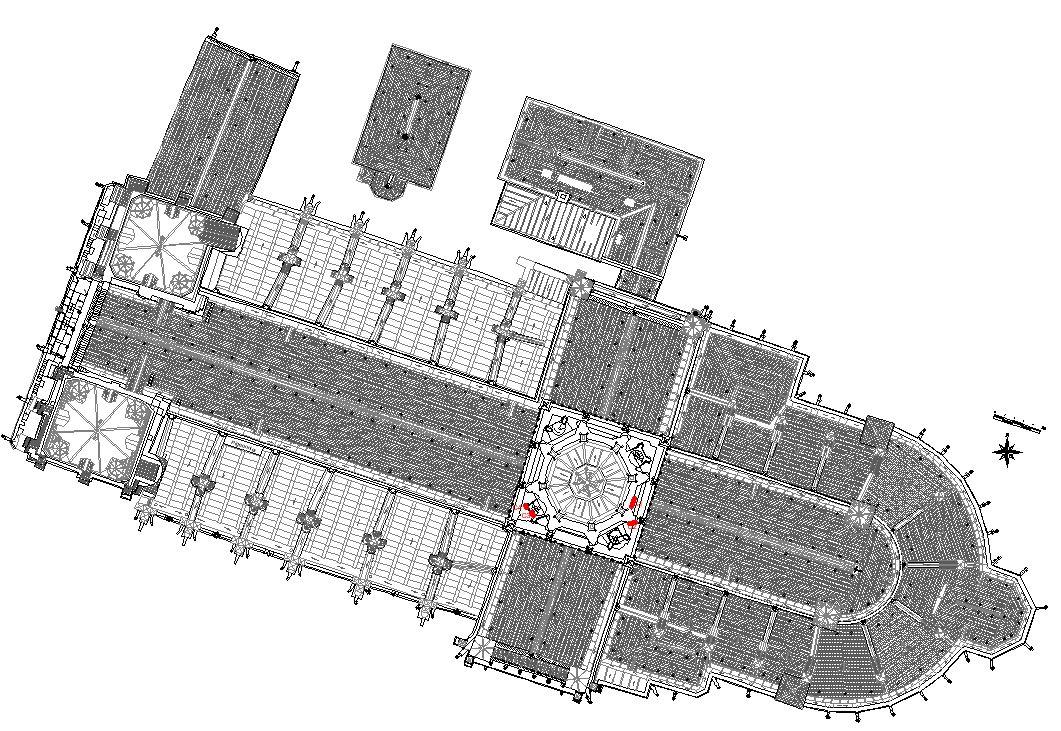 Localisation cadran solaire de la cathédrale de bayeux