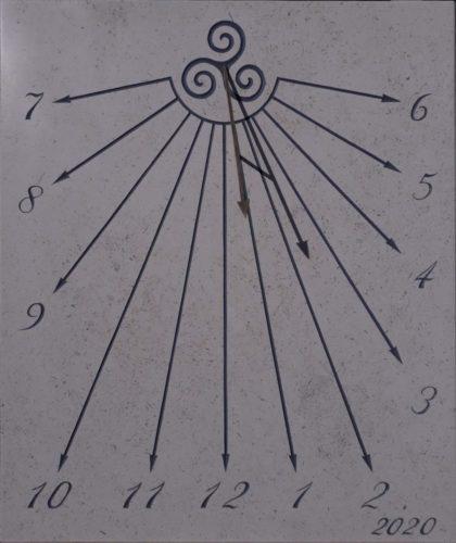Cadran solaire trisquel