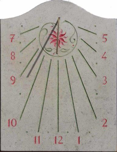 Cadran solaire fleurs
