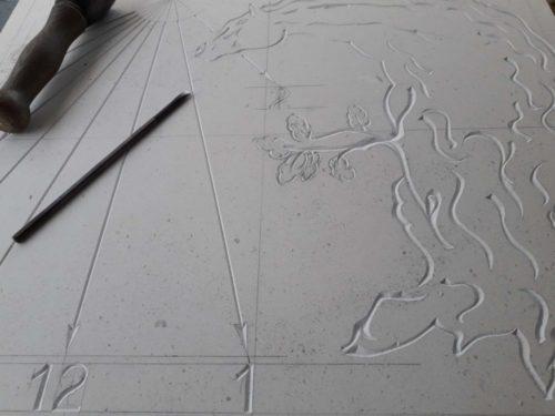 Cadran solaire cheval-chêne