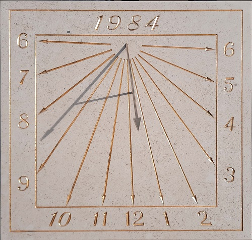 Cadran solaire avec feuille d'or