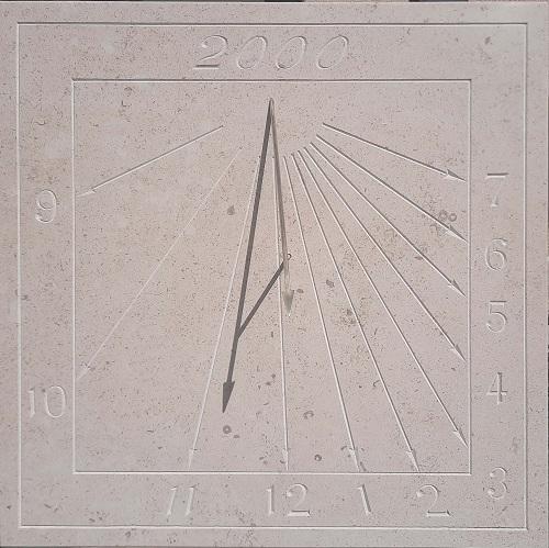 Cadran solaire en pierre naturel