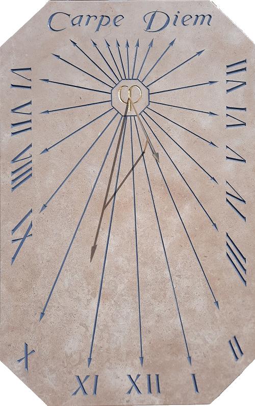 Cadran solaire avec le nombre d'Or